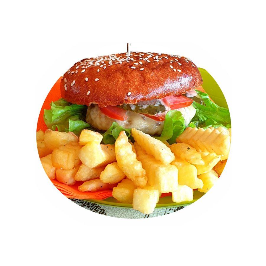 Small CHICKEN Kebaba Burger - set