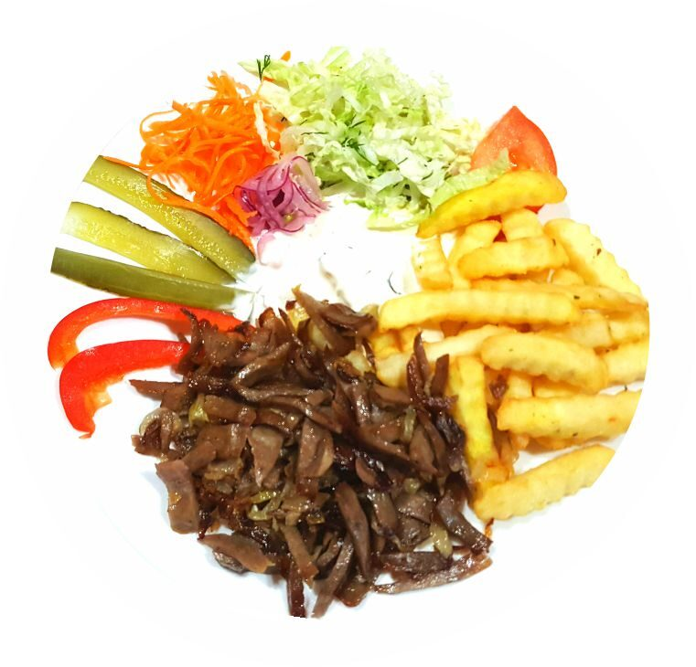 Small MIX Kebab on a plate