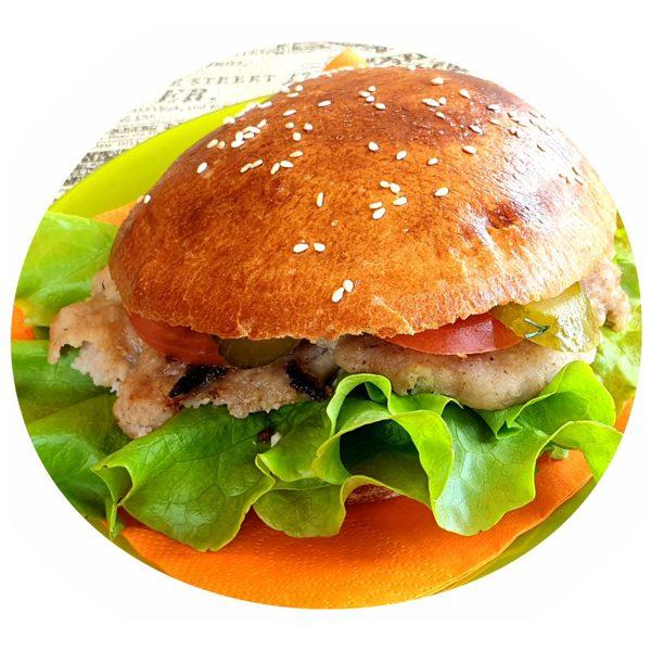 Large Beef Kebab Burger